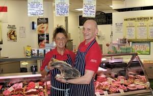 Joanne & Malcolm Marsden of Whittakers Butchers Blackburn Market