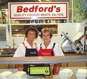 Meryl Davies & Linda Bell of Bedfords Blackburn Market