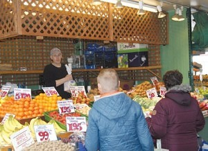 Michael Wallwork of Wallwork's Green Grocers Bolton Market