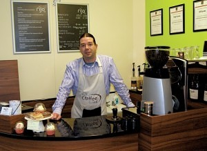 Nigel Lyons of The Coffee Grind Bolton Market