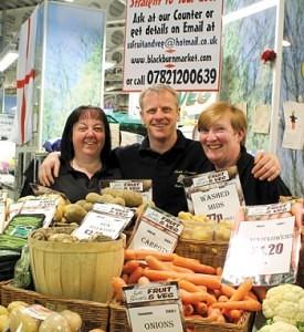 Scott Stewart of Scott Stewart's Fruit & Veg Blackburn Market