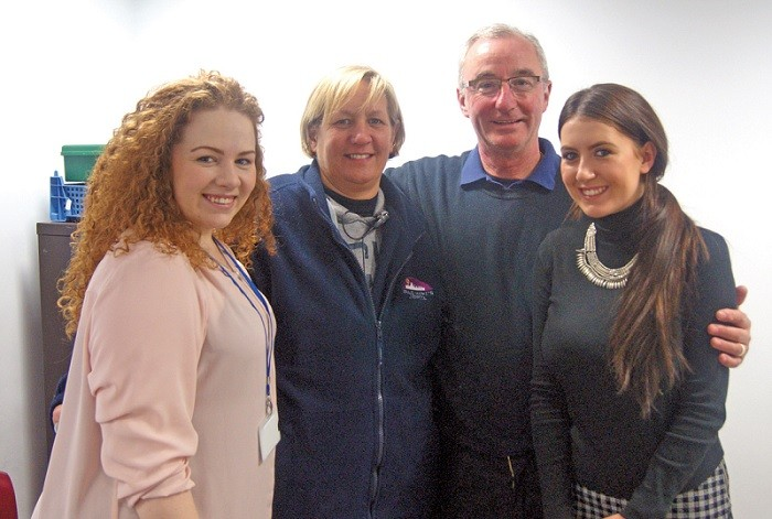 Part of Groupe Gerauds Market Team at Great Homer Street Market, Megan Penlington, Pam Linnett Richardson (Operations Manager), John Connolly (Contracts & Business Developments Manager) and Megan Davies
