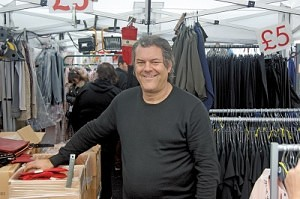 Russell Young of 'Russell's Fashions' Great Homer Street Market