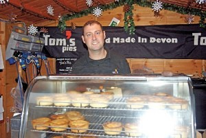 Andrew Chambers of 'Tom's Pies' Exeter Christmas Market
