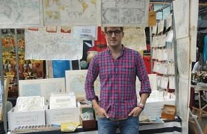 Andrew Mottram of 'Malby Maps Ltd' Old Spitalfields Antique Market