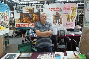 Andrew Scarr selling vintage movie posters and magazines. Old Spitalfields Antique Market