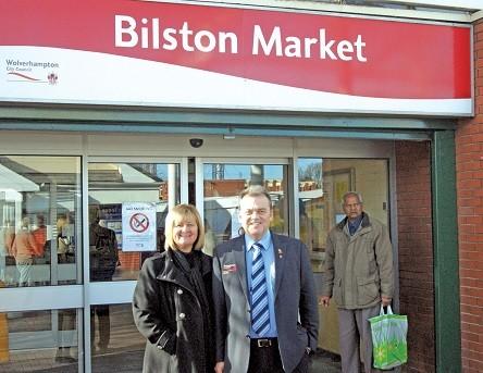 Bilston Markets General Manager Carole Walker and Area Markets Manager Stuart Walker