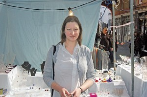 Clare Simcock of 'Pollea Jewellery & Homecare.' Old Spitalfields Market