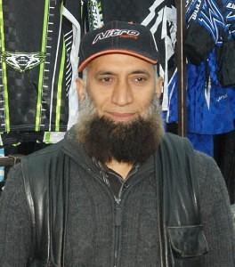 H. Patel of Motorbike accessories Blackbushe Market