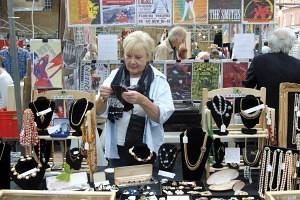 Jane Renwick of 'Vintage Jewellery' Old Spitalfields Antique Market