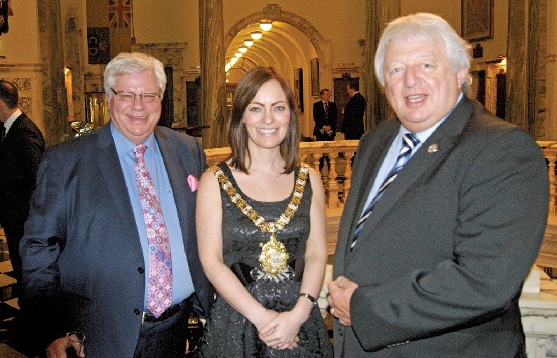 Market Place Europe's Allan Hartwell, The Lord Mayor Cllr Nichola Mallon and Nabma President