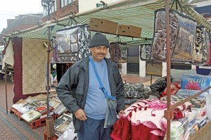 Mohammad Amad of The Bedding & Linen Stall Grays Market