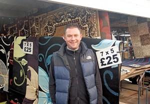 Paul Atkin of The Rug Stall Bilston Market