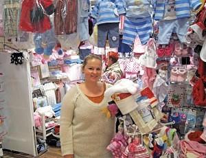 Rachel Harstone of Sedgemoor Textiles Bilston Market