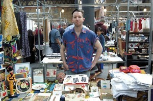Tim Stevens of 'Why Are You Being Weird With Me' Old Spitalfields Antique Market