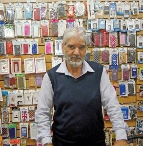 F. Rehman of Ray's Mobile Accessories Hanley Market