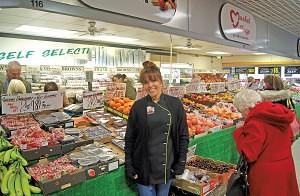 Leanne Brown of 'Browns Fruit & Veg' Washington Market