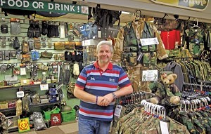 Mark Carroll of 'The Army Shop' Washington Market