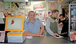 Paul Mclaren of 'Printing Mad Ltd' Washington Market