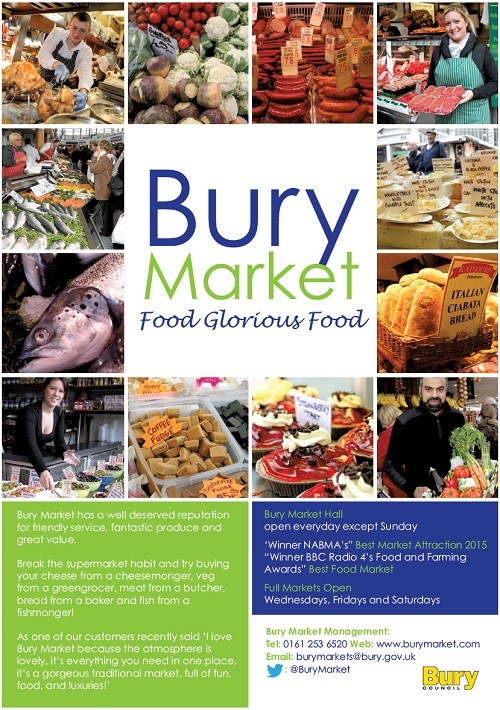 Bury market award advert