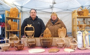 Chris & Kate Riley of 'The Flat Basket Company' Keswick Market