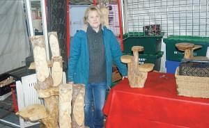Gillian Hinds of 'Greetings' Keswick Market