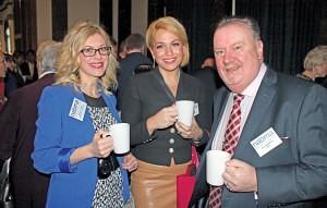 Swansea Market representatives Sarah Lawton & Lisa Wells, with NMTF Chief Executive Joe Harrison