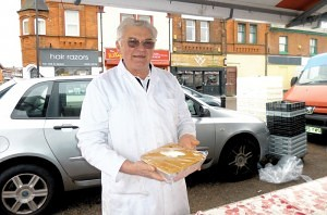 Arthur Bevan of 'Pimmies Pies' Earlestown Market