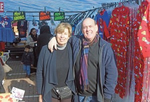Malcolm and Jill Lesnick of 'The Children's Clothes Stall' Western International Market