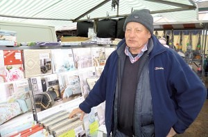Mr A J Kinney selling 'Bedding' Earlestown Market