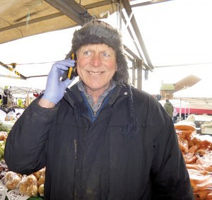 Paul Martin of 'The Fruit & Veg Stall' Earlestown Market