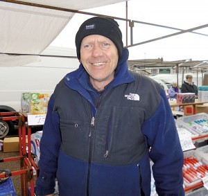 Ste Bradley selling 'Household Goods' Earlestown Market