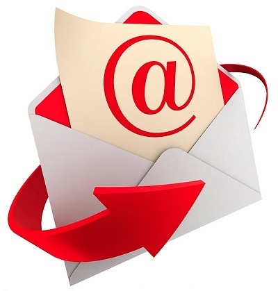 email contact me logo red