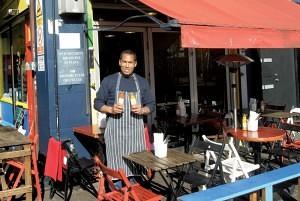 Brian Danclair of 'Fish, Wings & Tings' Brixton Village Market Row