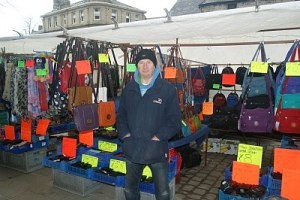 Brian Thompson of 'Brian Thompson's Bags' Skipton Market