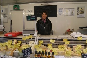 Catriona Newby of 'Lawsons Cheeses Direct' Skipton Market
