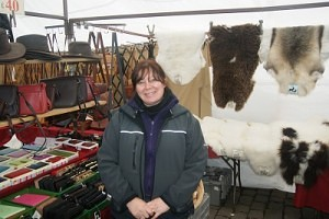 Jacqueline Hanna manager of 'Ridgeway Leather Skipton Market