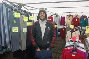 Mohsan Saghir of 'M Saghir Fashions' Skipton Market