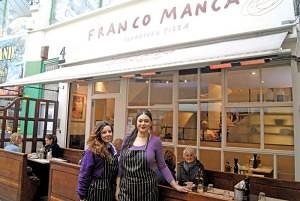 Staff from 'Franco Manca' Brixton Village Market Row