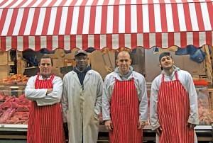 The staff of 'Philips Butchers' Brixton Village Market Row