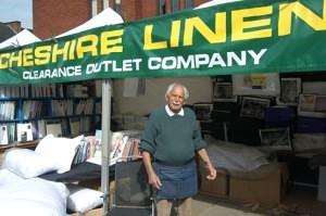 Hymie Cohen of Cheshire Linens Leek Market