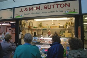 John Sutton of J MM Sutton Leek Market
