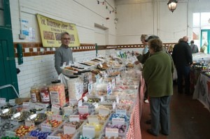 Neil Topliss of The traditional Toffee Stall Leek Market