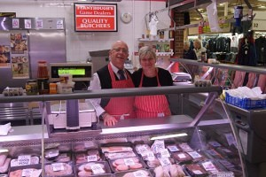 Mark and Julie Johns of Fernyhoughs Butchers Chester Market