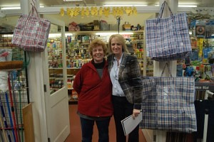Sandra Taker of The Tool Box with Market Manager Karen Bates