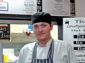Tommy has gained work as an apprentice in The Courtyard Cafe, following his successful completion of a scheme ran from offices inside the market