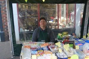 Allan Ash of Adorable Sweets Swadlincote Market