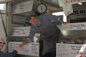 Bob Harrison of Peter Brading Farmers and Butchers Swadlincote Market