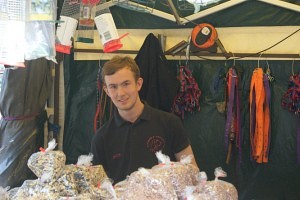 Jack Wardle from Simons Pet Food and Accessories Swadlincote Market