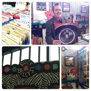 Montage - Vintage record trader Joe Millard at Coalville Market